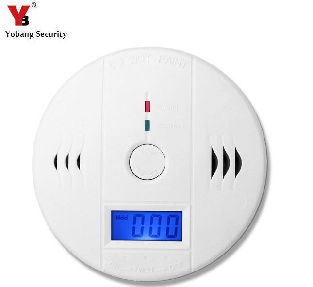 Sensores & Alarme de Proteção de Segurança independente LCD CO Monóxido De Carbono Alarme de Incêndio Sensor de CO Envenenamento Detector de Carbono