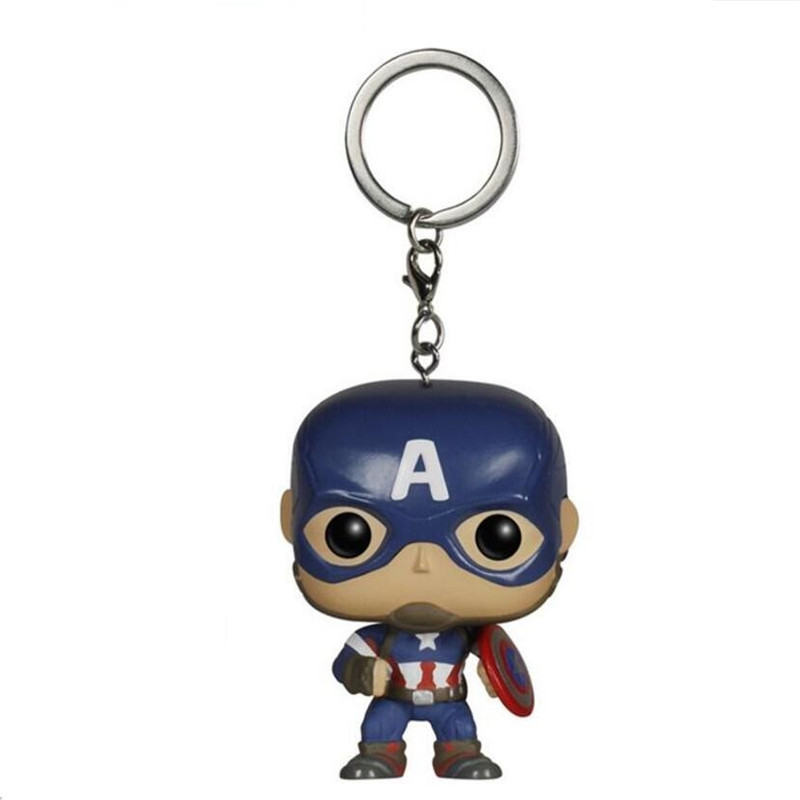Avenger League Heroes Captain America Spiderman Superman Iron Man Black Panther Naruto Sailor Moon Decoration Pendant Keychain