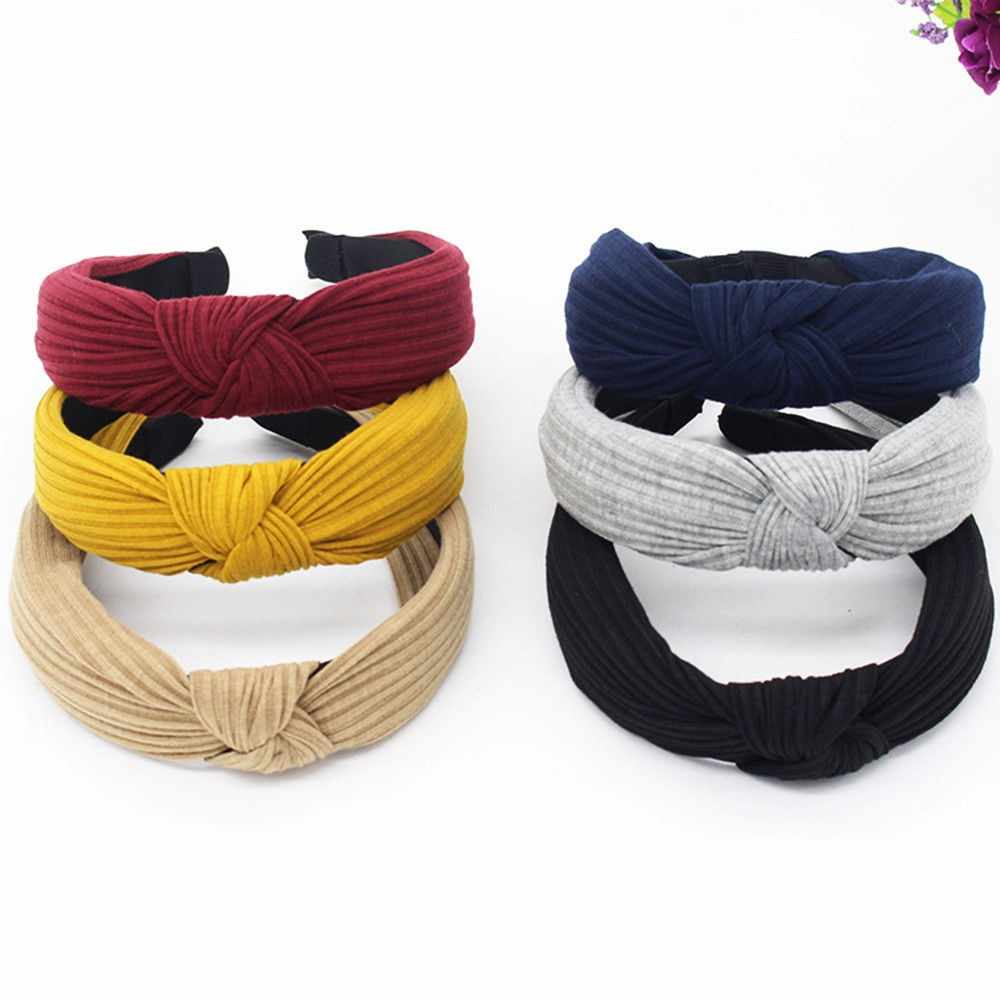 Women New Fashion Brief Headband Twist Hairband Bow Knot Cross Tie Headwrap Hair Band Hoop резинки для волос аколки для волос Z5