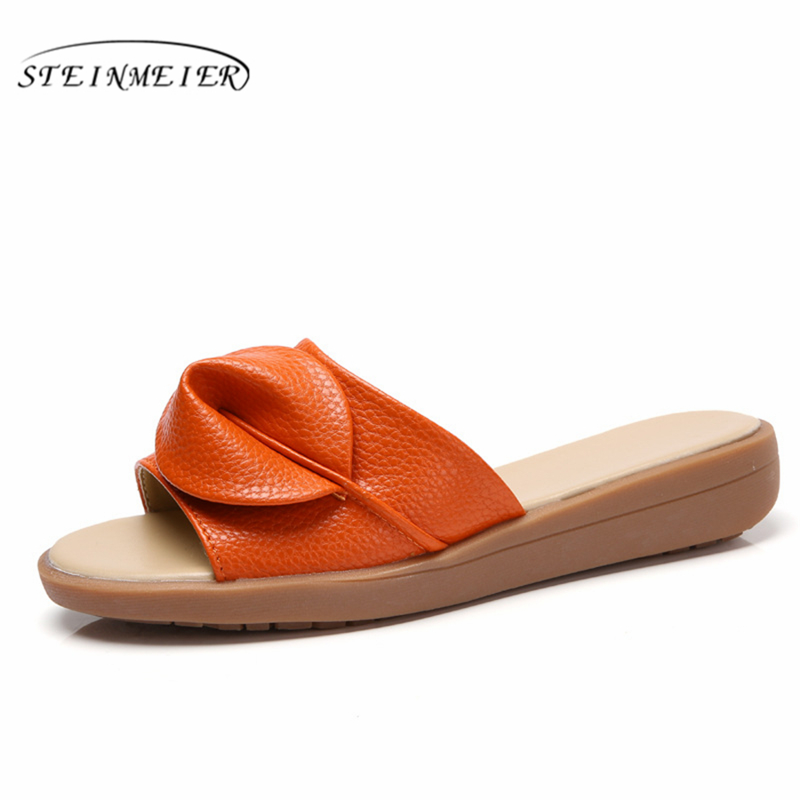 Genuine cow leather lady tassel flats Slippers sandals Orange yellow black beige oxford shoes for woman aardimi 100% cow leather oxford shoes for woman spring