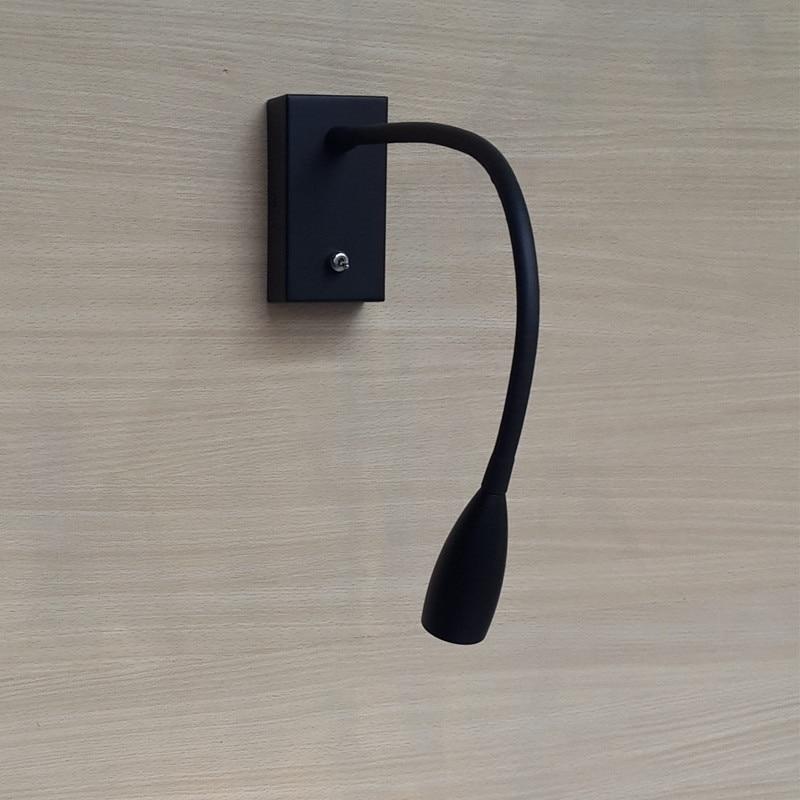 Topoch Սև LED անկողնային պատի թեթև - Ներքին լուսավորություն - Լուսանկար 5