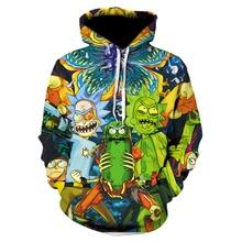 Brand Cosmos 2019 Fashion Brand 3D hoodies cartoon rick and morty print Women/Me