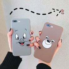 For iPhone X XR XS Max Cases Cute Smiley Pig Smiley Bear Soft TPU Silicone Shell For iPhone 6 6S 7 8 Plus Cover Phone Cases Capa цена и фото