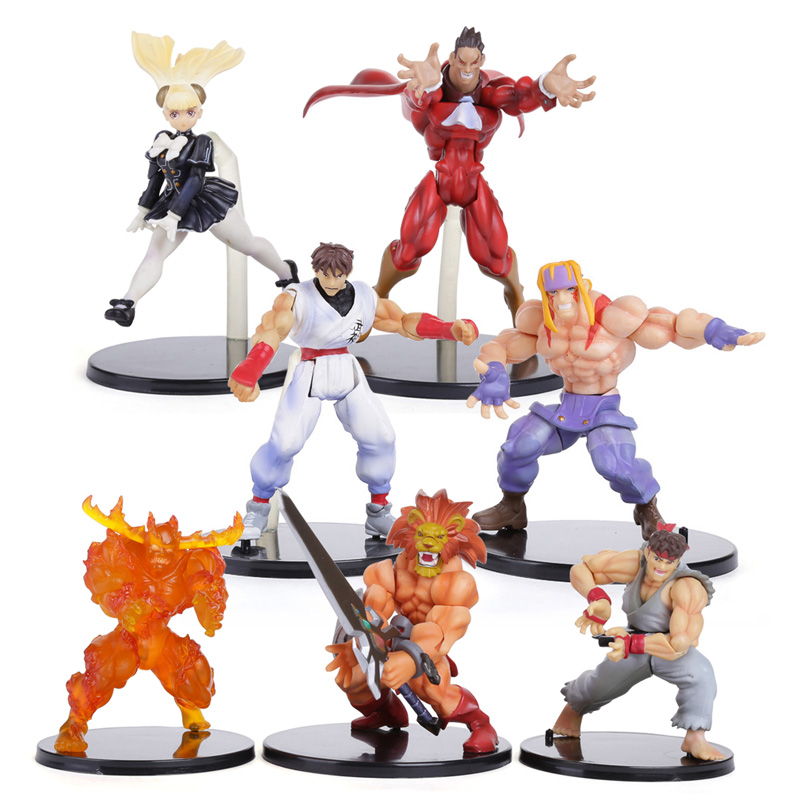 цена на KOF The King Of Fighters PVC Action Figures Collectible Toys 7pcs/set SFFG019