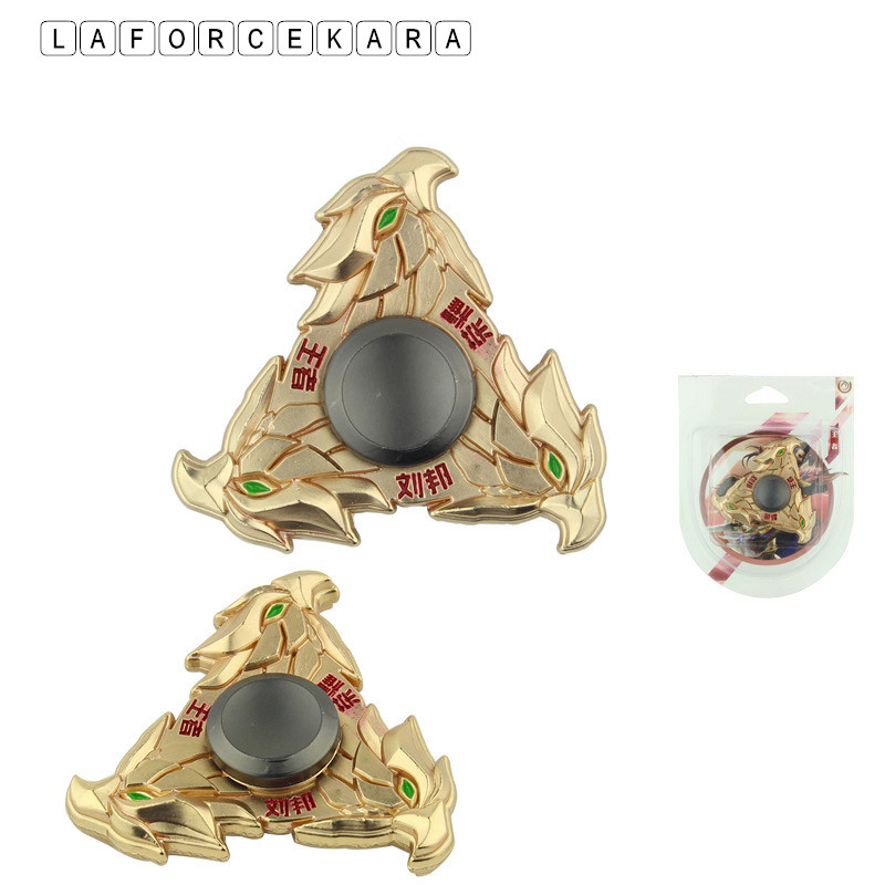 Golden Liu Bang Eagle Shape  Zinc Alloy Metal Fidget Spinner Gyro Rotary EDC Hand Spinner For Autism And ADHD Focus Stress Finge