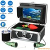 GAMWATER HD1000tvl Underwater Fishing Video Camera Kit 6 PCS Infrared Lamp Lights With7 Inch Color Monitor