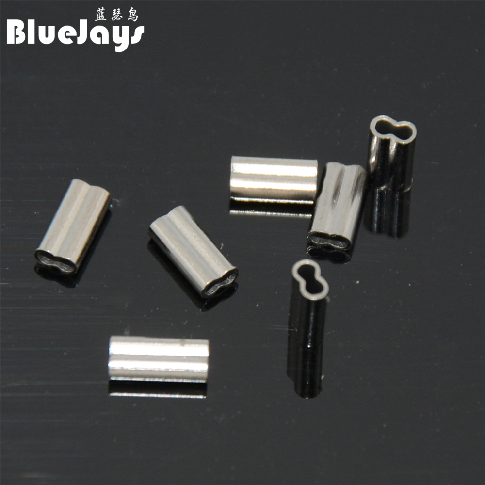 Metal Line crimp Fishing Connector Wire Sea Lake Pond Water Tackle Copper
