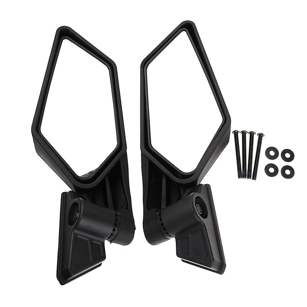 1 Set ABS Plastic Universal 8.35? Motocross ATV Side Mirror For Can Am Maverick X3/X3 R/X3 Max R Etc Adjustable Convex Mirror