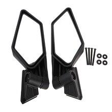 1 Juego de plástico ABS Universal 8,35 Motocross ATV espejo lateral para Can Am Maverick X3/X3 R/X3 Max R Etc espejo convexo ajustable