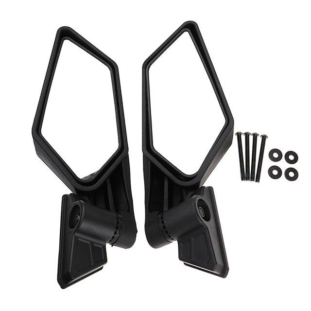 1 Set ABS Plastic Universal 8.35″ Motocross ATV Side Mirror For Can Am Maverick X3/X3 R/X3 Max R Etc Adjustable Convex Mirror