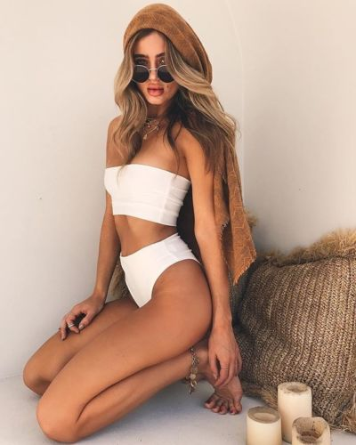 3d8fd3d98c2 New Women Bikini Set High Waist Simple Style Solid Color Sexy Strapless  Swimwear Tube Top Swimsuit Beachsuit Beachwear-in Bikinis Set from Sports  ...