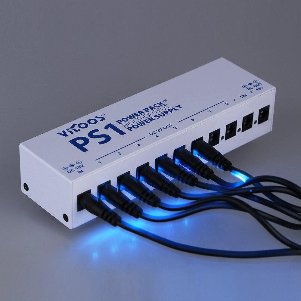 Электрогитары эффект адаптер 10 канал из положить Питание струнный инструмент Аксессуары для гитары PS1