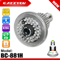 EAZZYDV BC-881H 960P 1.3MP HD 3.6mm Lens P2P WiFi/AP IP Network Bulb Camera 940nm IR LED Light Night Vision and Motion Detection