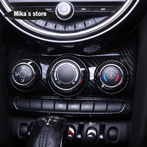 Image 3 - Auto Adesivo Interior Carbon Fiber Center Console Tampa do Interruptor de Botão Decorativo Adesivo Para mini cooper F55 F56 Car styling