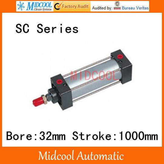 SC series standard Adjustable cylinder SC32*1000 single rod double-acting air compressor piston hydraulic cylinder 38mm cylinder barrel piston kit