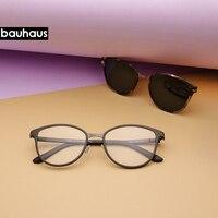 c07508082 Bauhaus Cat Eye Eyewear Frames Women Frame 3in1 Memory Core Inside  Polarized Magnet Clip Sunglasses Optical. Bauhaus Gato Olho Armações de Óculos  Mulheres ...