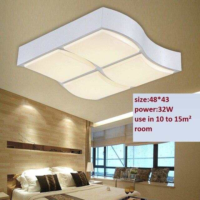 2015 nieuwe led plafond licht 32w modern design slaapkamer for Woonkamer lamp modern