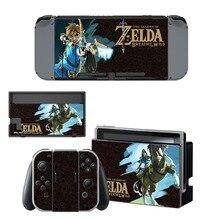 Легенда о Zelda наклейка виниловой кожи протектор Стикеры для nintendo переключатель NS консоли + контроллер + держатель подставки защитный плёнки