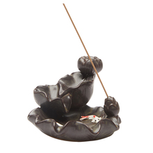 Waterfall Backflow Incense Burner Ceramic Aromatherapy Buda Bruleur Bougie Encensoir Porte-Encens Porcelain	Zen Decor 60KOB12