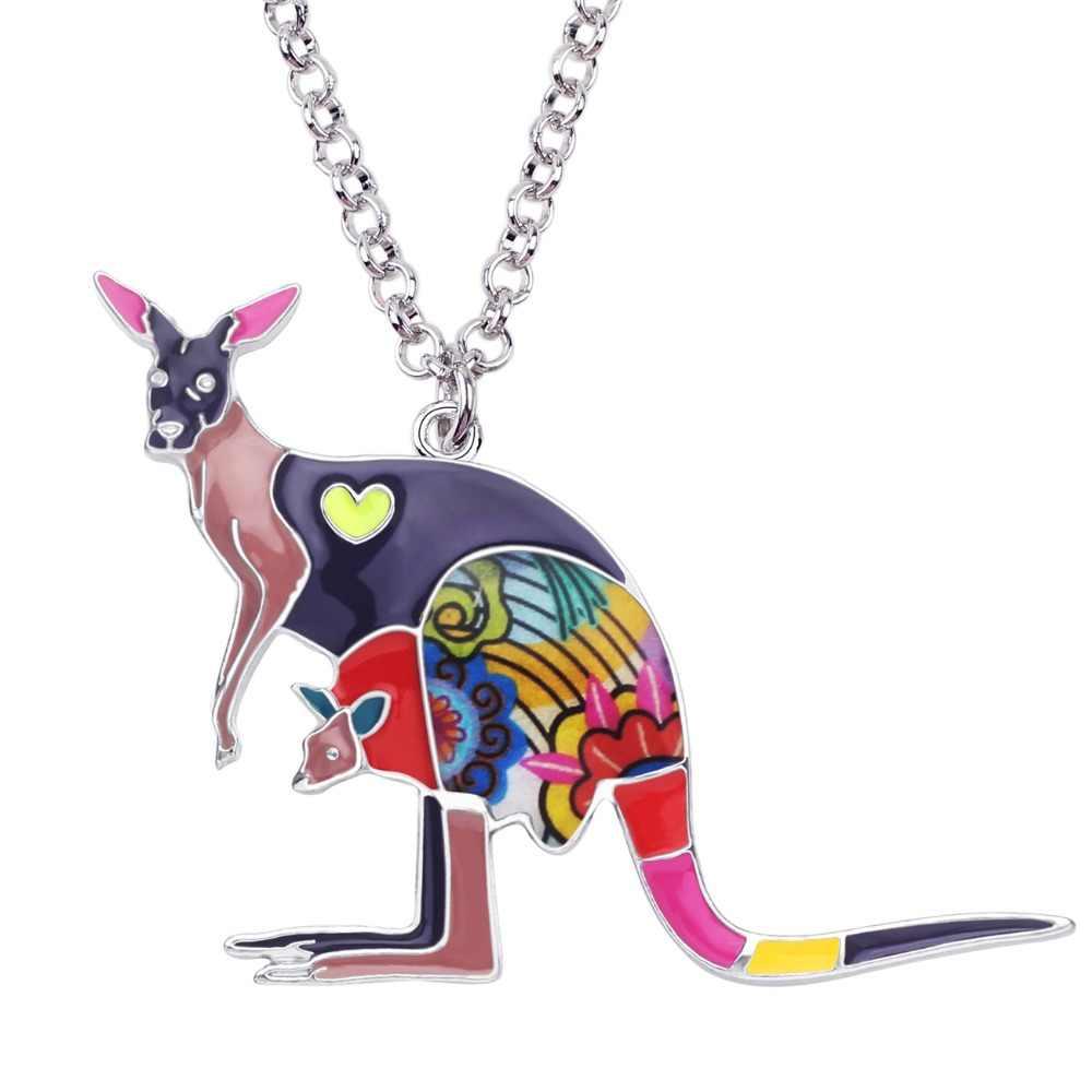 Bonsny Statement สังกะสีโลหะผสมออสเตรเลีย Kangaroo Roo Choker สร้อยคอสร้อยคอจี้เครื่องประดับแฟชั่นใหม่สำหรับผู้หญิงสาววัยรุ่น