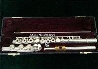 Натуральная Новый флейта YFL 471 музыкальный инструмент 17 отверстие e открытого ключа музыка с основной флейта позолоченный с мундштуком прои