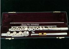 Подлинная новый шедевр-471 музыкальный инструмент флейта 17 отверстие открыть ключа электронной музыки с первичной флейта золота с производительностью мундштук