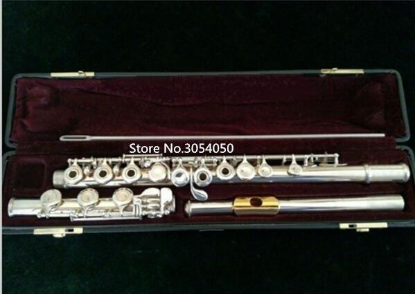 Véritable nouvelle flûte YFL-471H instrument de musique 17 trous E clé ouverte musique C flûte primaire plaqué or avec embout performance