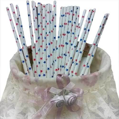Paper straw eco-friendly multicolour wedding ktv holiday decoration red blue five-pointed star