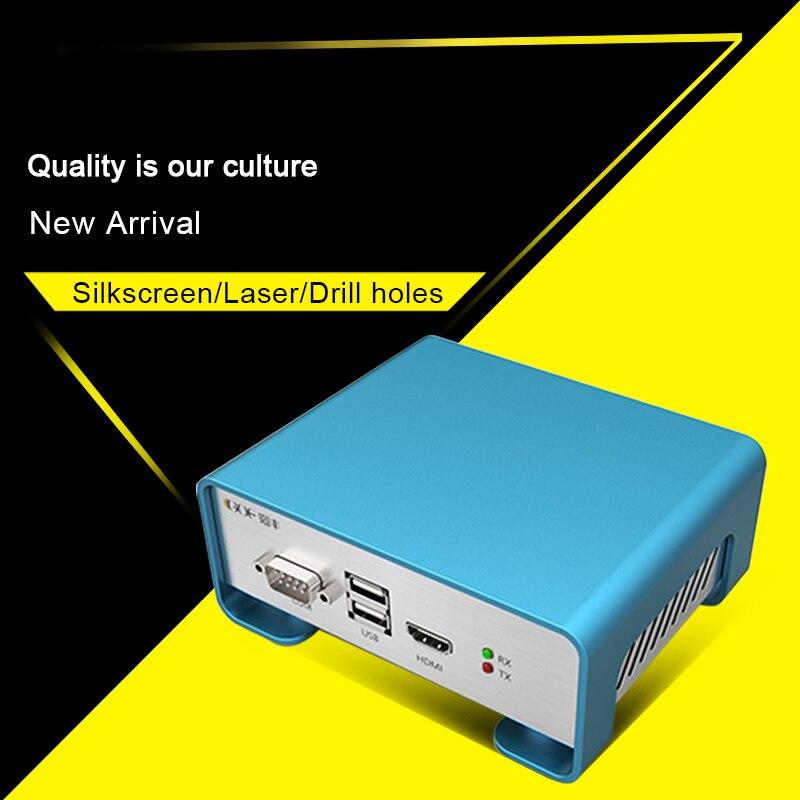 Işıklar ve Aydınlatma'ten Konnektörler'de GOF P01 208.4x71.5x189mm (Wxh d) diy alüminyum özel durum için ses amplifikatörü muhafaza kutusu title=