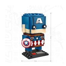 hot LegoINGlys Marvel Super hero Avengers mini Captain America figures micro diamond Building Blocks MOC model bricks toys gift