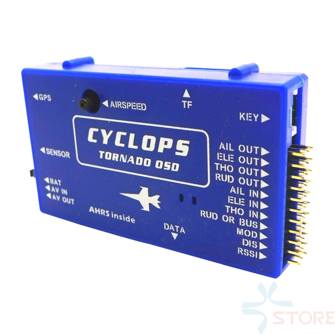 CYCLOPS TORNADO OSD System W/ GPS Latest Version V1.1 with 3D Flying / Airspeed Sensor for RC Airplane kam cyclops