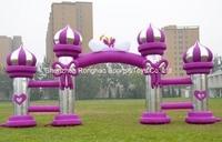 10 м надувные столб Арки арки для рекламы Свадебная вечеринка фестивалей Аксессуары с воздуха Воздуходувы