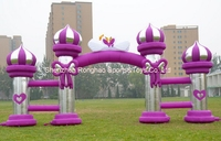 10m Inflatable Pillar Arches Archway For Advertising Wedding Party Festivals Decorations With Air Blower