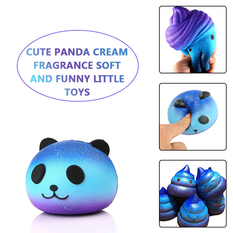 Squeeze Squishys Galaxy Cute Panda Cream Scented Squishy Funny Gadgets Anti Stress Novelty Antistress Toys Gift slime toys new 2017 men winter black jacket parka warm coat with hood mens cotton padded jackets coats jaqueta masculina plus size nswt015