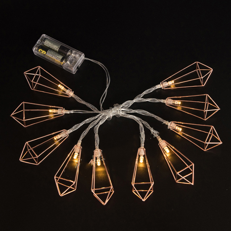 Battery powered indoor retro home decor geometric mini string light battery powered indoor retro home decor geometric mini string light led rope lamp starry party supplier patio decorative in glow party supplies from home mozeypictures Gallery