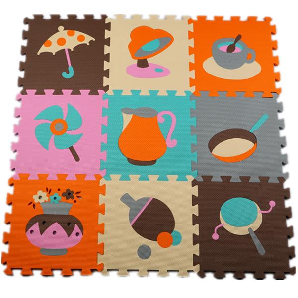Desenvolvimento suave infantil rastejando tapetes, jogo do bebê número puzzle/carta/desenhos animados esteira da espuma de eva, almofada telhas de piso para jogos de bebê
