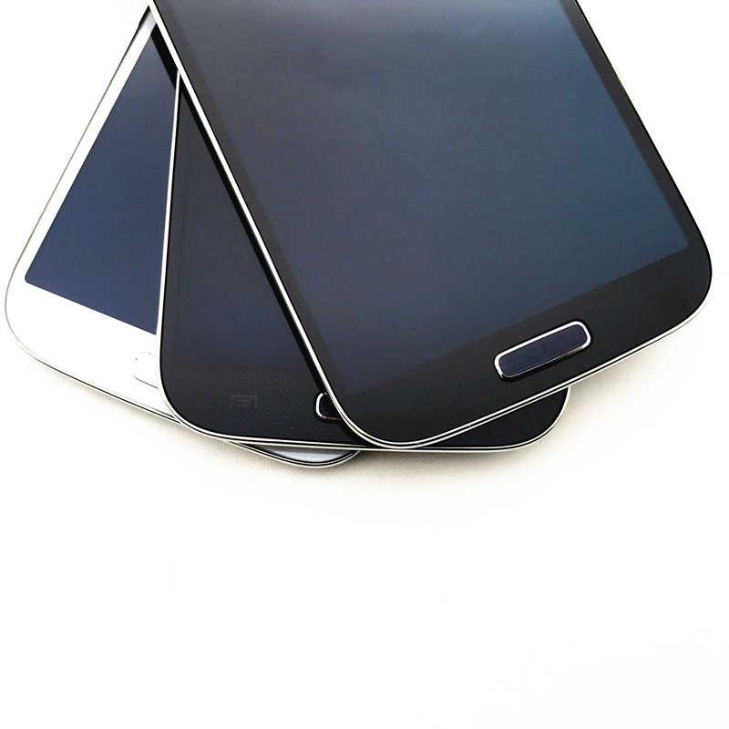 عالية الجودة سوبر AMOLED شاشات الكريستال السائل لسامسونج غالاكسي SIV S4 i9500 شاشة الكريستال السائل شاشة تعمل باللمس محول الأرقام مع الإطار قطعة بديلة لمستشعر