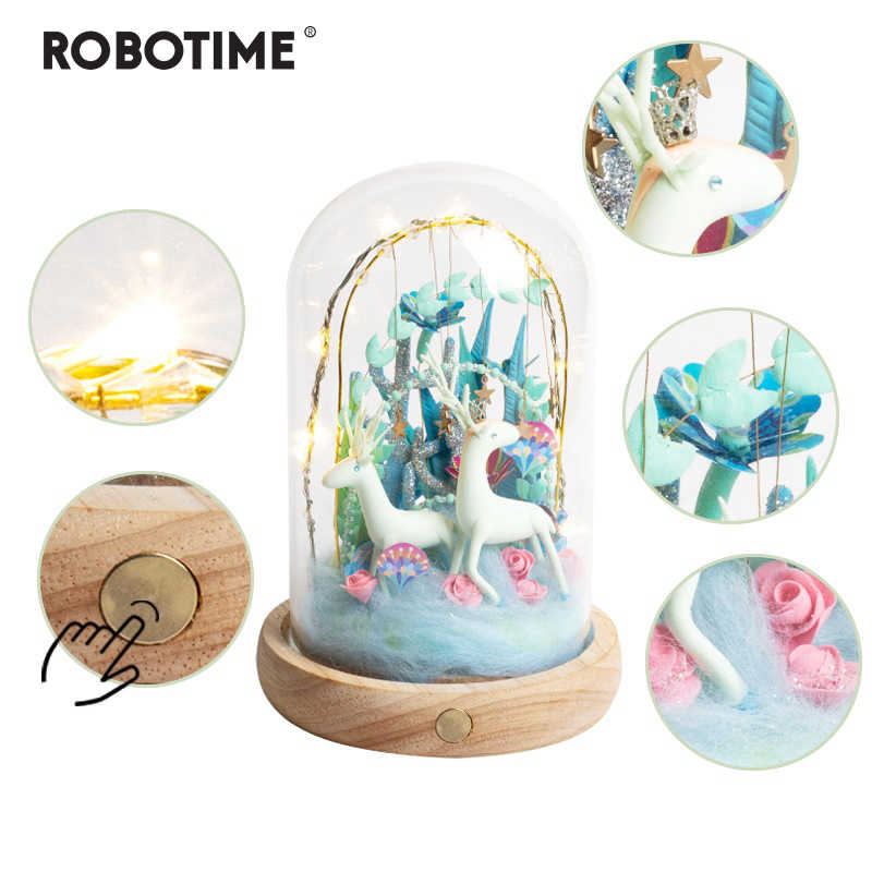 Robotime New Arrival Creative DIY Deer Paradise Model Building Kits Assembly Toy Gift for Children Adult DC02