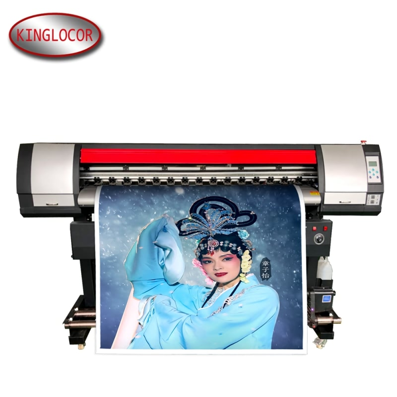 Large Format Numbering Inkjet Printer 165cm Outdoor Or Indoor  Eco Solvent Printer With XP 600 Head For PP/Vinyl
