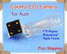 Завод продажи, автомобильная камера заднего вида Обратный Парковка Резервное копирование камеры с 4 светодиодами для Audi A6L/A4/Q7/S5
