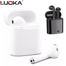 Hot Sell LUOKA i7 i7s TWS Wireless Bluetooth Earphones In-Ear Music Earbuds Set Stereo Headset for iphone X 6 7 8 Samsung Xiaomi(China)