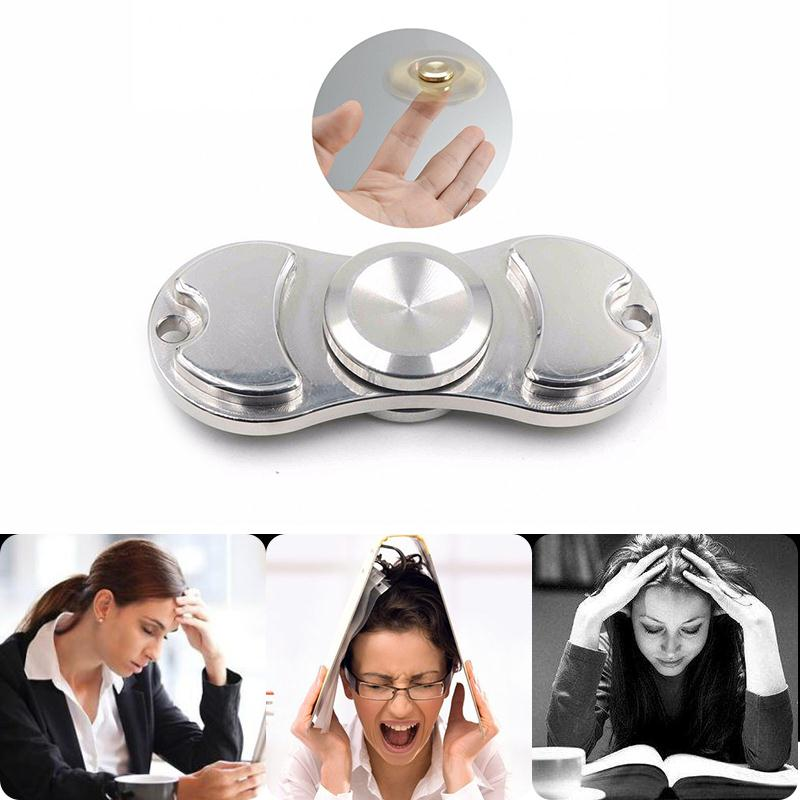 Stanless Metal Figet Spinner Aluminium Focus Bearing Relief Stress Toy For Adults Kids Autism ADHD Hand Fidget Spinner