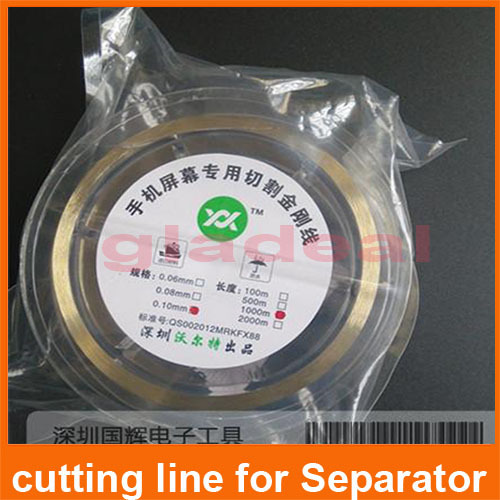 1000m Gold alloy Cutting wire line Used for LCD Screen Separator Machine from refurbish Machine Repair Tool of Samsung,iPone,HTC 5 in 1 smart curved screen laminating machine tbk 508 used for screen explosion screen repair electric maintenance tools