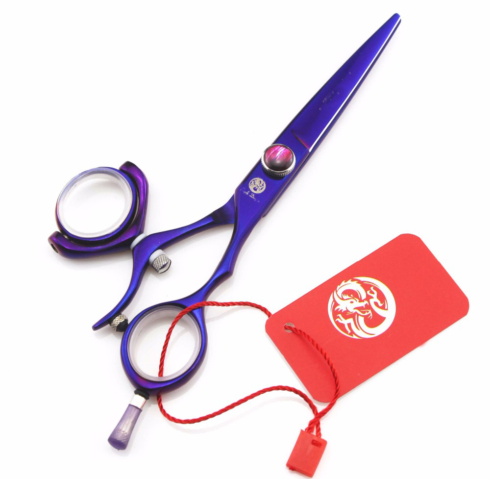 5.5 inch Purple Hair Scissors Professional 360 Degree Rotate Salon Hair Shears Swivel Hairdressing Scissors Barber-Shop-Supplies5.5 inch Purple Hair Scissors Professional 360 Degree Rotate Salon Hair Shears Swivel Hairdressing Scissors Barber-Shop-Supplies