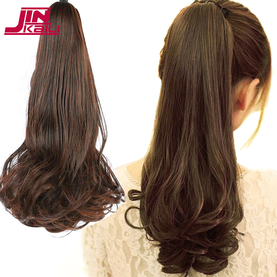 JINKAILI WIG 12 Short Straight Synthetic Ponytail Light Claw on Clip in Pony Tail Hair Extensions Straight Style Hairpiece