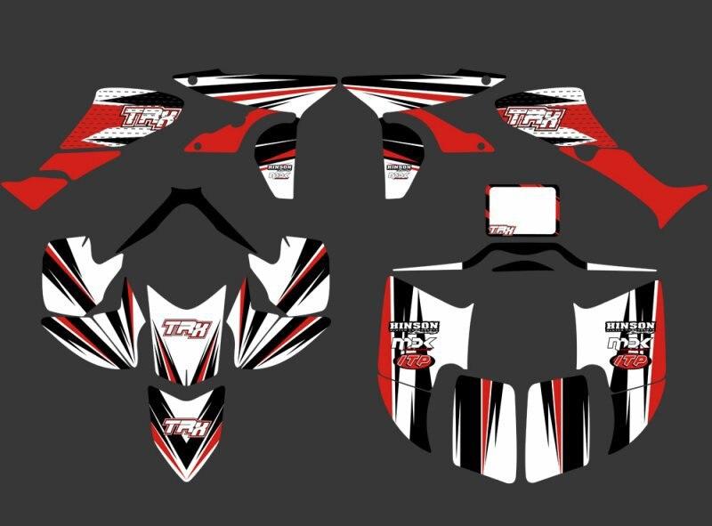 0351 新スタイルデカールステッカーステッカーグラフィックキット Fit ホンダ TRX450R TRX 450R fourtrax ATV TRX 450 ×  グループ上の 自動車 &バイク からの デカール &ステッカー の中 1