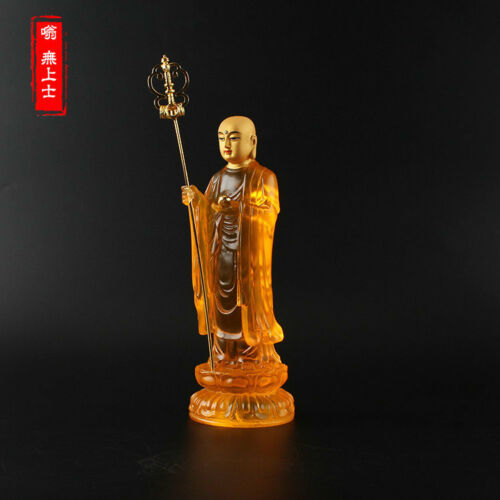 Exquisite Tibetan Buddhism Hand painting resin statue Car decoration Ksitigarbha
