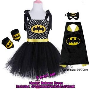 Image 3 - 2019 New Cute Super Hero Ballet Skirt Costume Hot Pink Batgirl Tutu Skirt For Girls