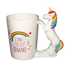 Colorful 3D Unicorn Coffee Mug