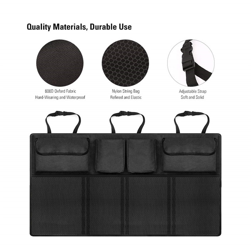 Huihom Car Seat Back Organizer Storage Bag Multi Pocket Trunk Organizer Automobile Stowing Tidying Accessories 90 46cm 18 35 39 39 in Stowing Tidying from Automobiles amp Motorcycles